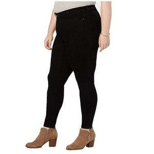 Style Co 16W Black Skinny Ankle Curvy Jeans H1-03